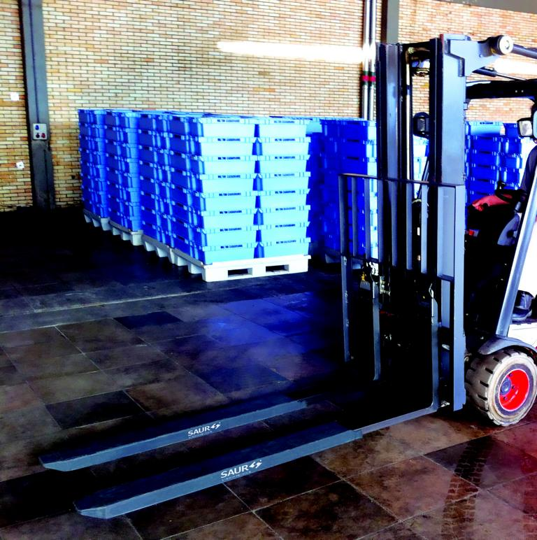 Garfos Telescópicos SAUR agilizam movimentação de caixas de uvas na Chandon
