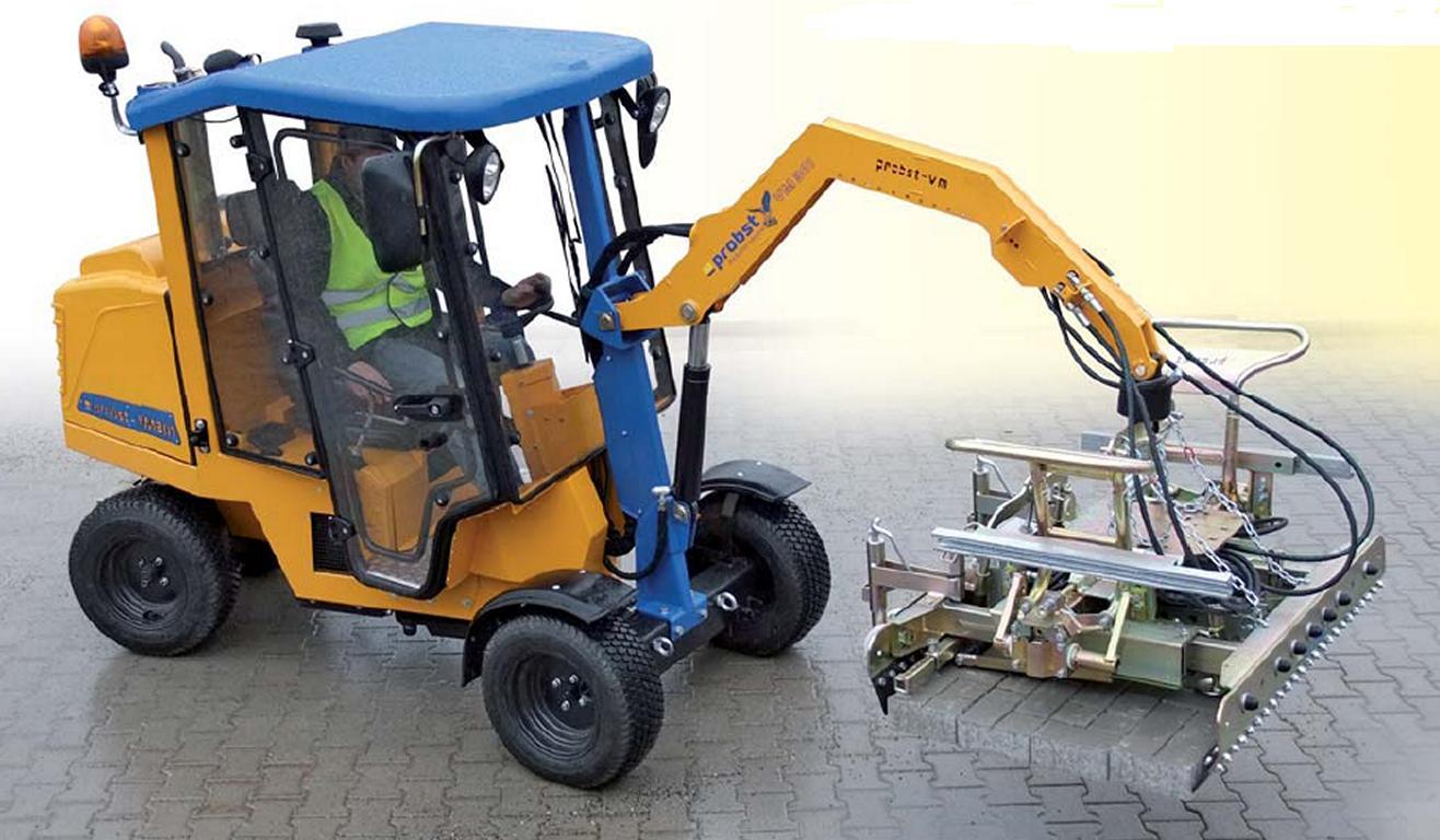 SAUR traz mecanização para colocação de paver