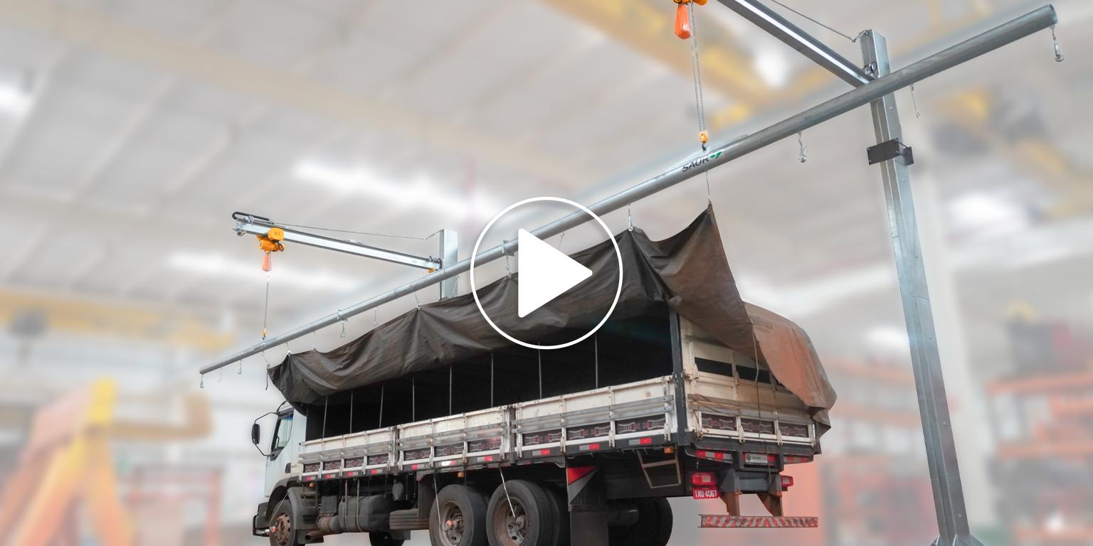 Hoist Crane Tarping/Untarping System