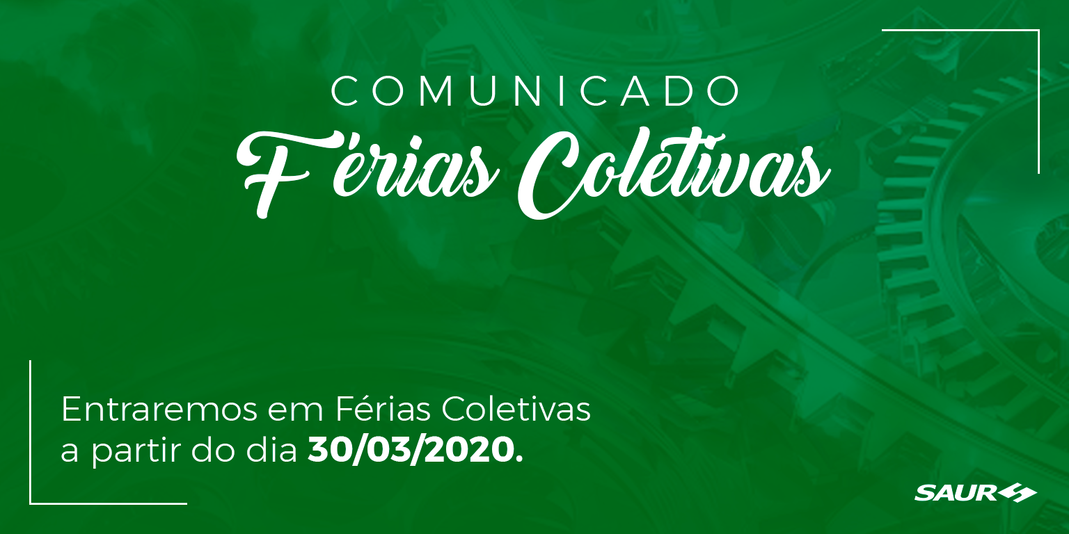 AVISO DE FÉRIAS COLETIVAS