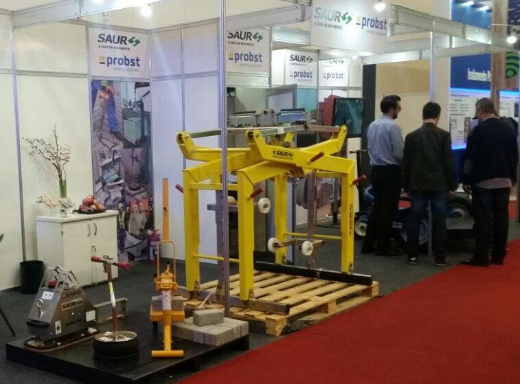 SAUR e Probst na Concrete Show: equipamentos para construção Civil