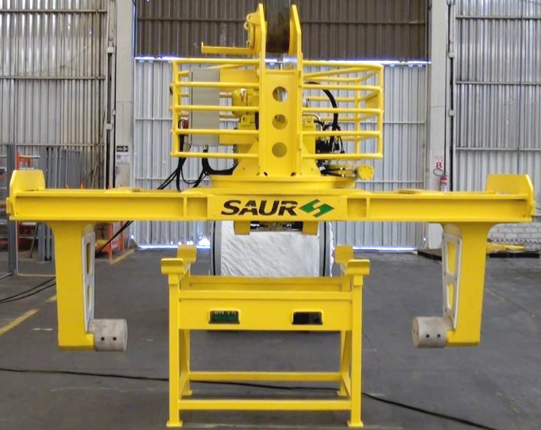 Inovação: SAUR lança Garra para Manuseio de Bobinas de Aço