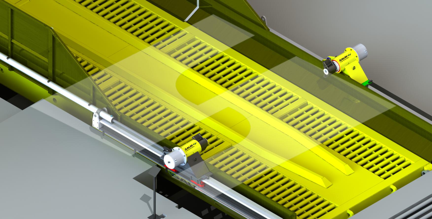 Plataforma para Descarga de Amendoim SAUR: cascas preservadas