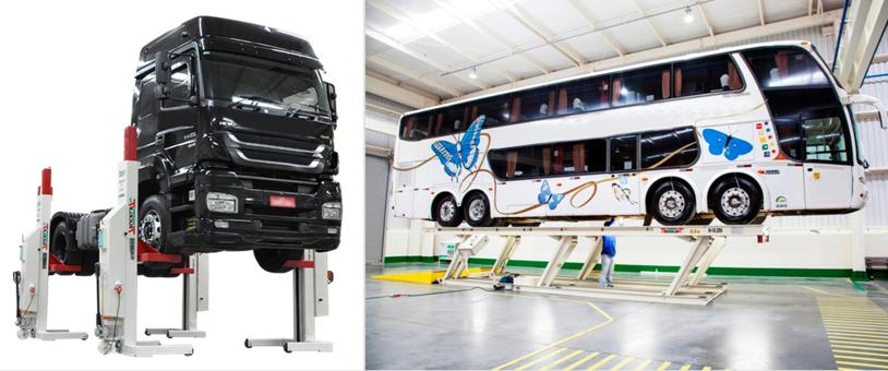 Para elevar veículos em manutenção, a opção é o Trucklift SAUR