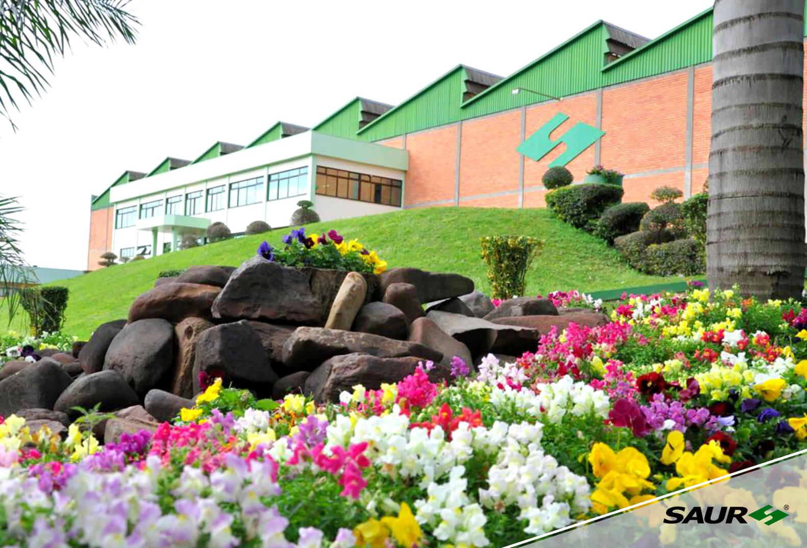 Jardins da Unidade Fabril de Panambi -RS