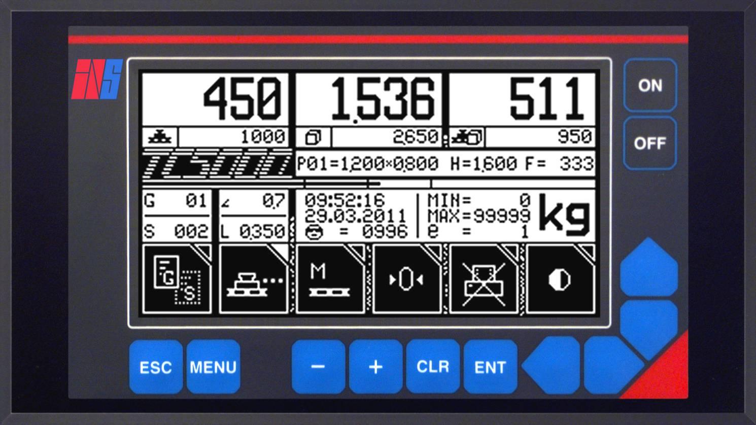 Sistema de Pesagem Móvel INS TC5000