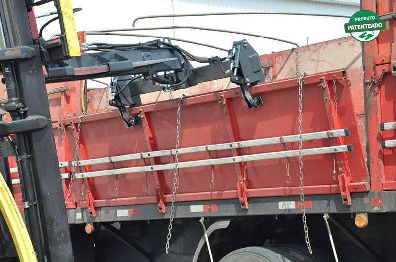 Pinça para Retirar e Colocar Tampas Laterais de Caminhões