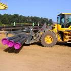 Pipe Stabilizer for Wheel Loader