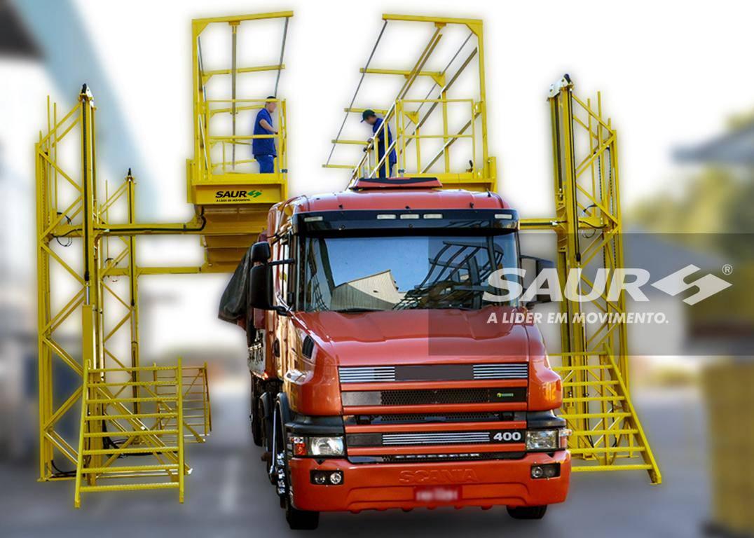 Desenlonador de Caminhões - Plataforma